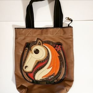 Chala Brown Purse w/Horse on Front